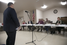 City Attorney Gary Albertson speaks before the Linden City Council Monday evening.