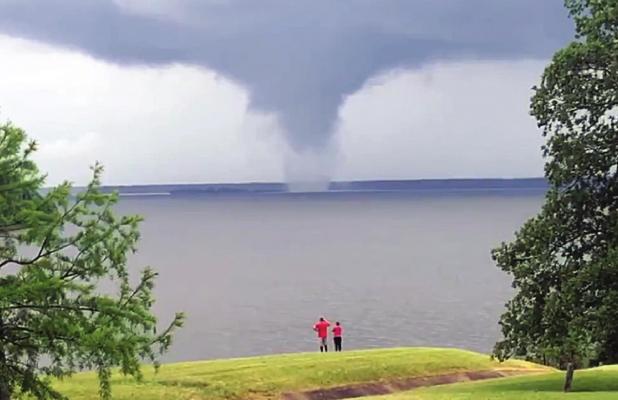 Tornado at Lake Wright Patman
