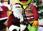 Santa socially distances himself at hospital
